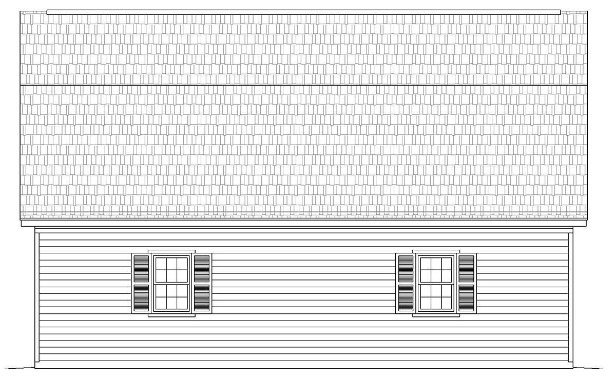 Farmhouse 2 Car Garage Plan 40815 Picture 1