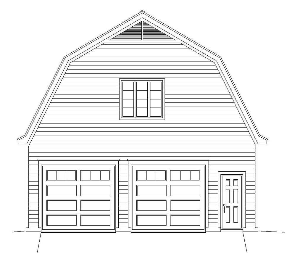 Farmhouse 2 Car Garage Plan 40815 Picture 2