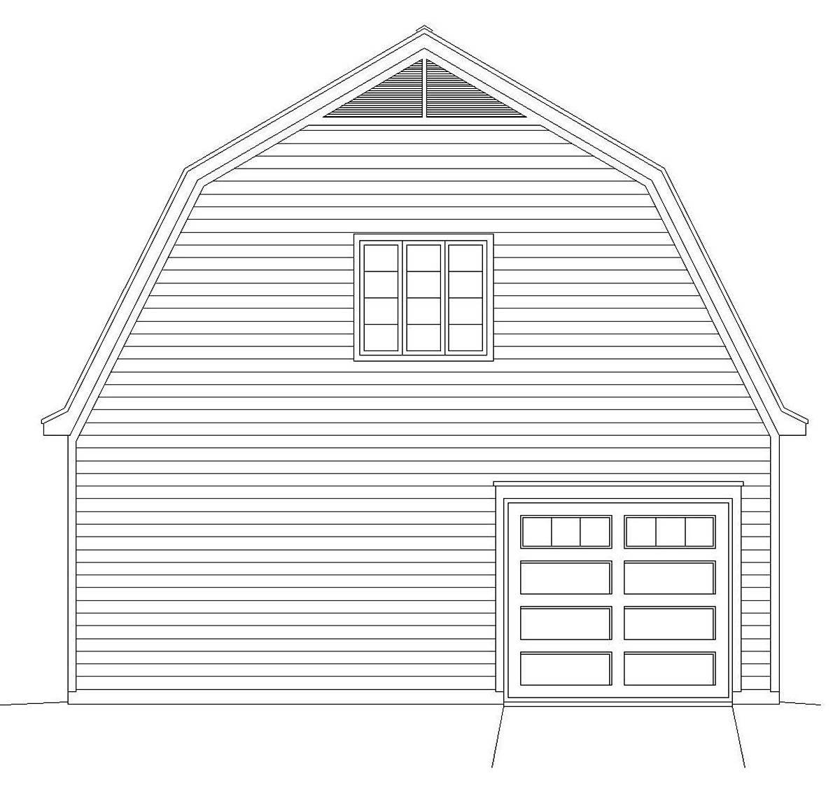 Farmhouse Rear Elevation of Plan 40815