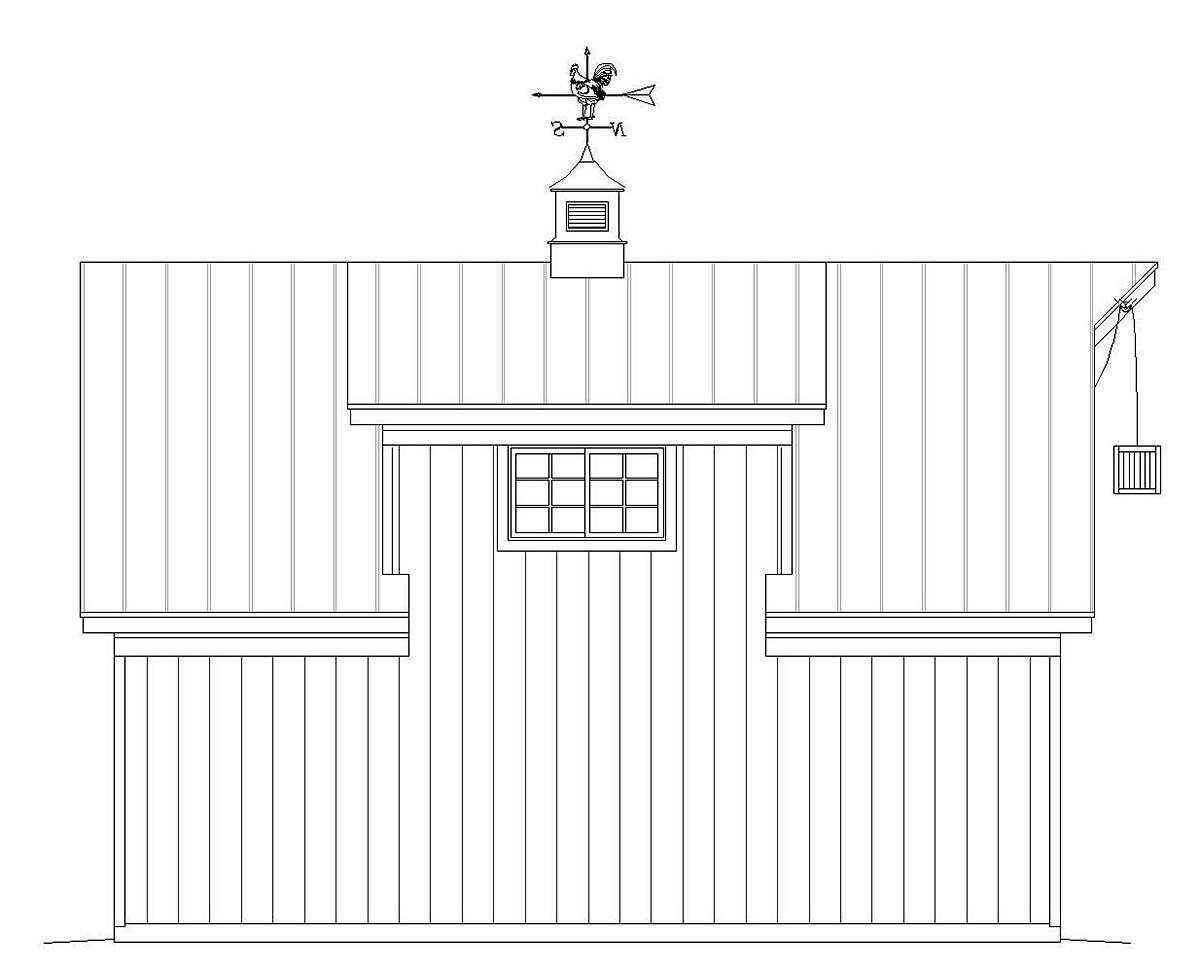 Country, Farmhouse, Saltbox 1 Car Garage Plan 40818 Picture 2