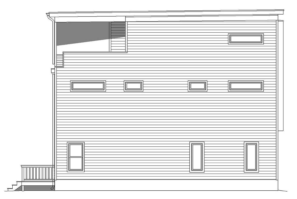 Contemporary, Modern, Narrow Lot House Plan 40819 with 3 Beds, 4 Baths Picture 2