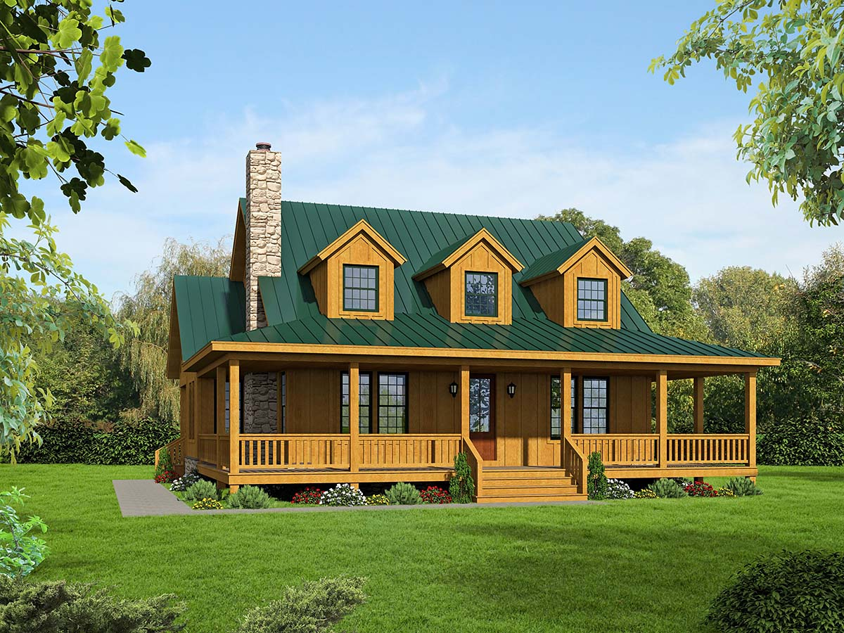 Country, Modern Farmhouse, Traditional House Plan 40822 with 3 Beds , 4 Baths Elevation