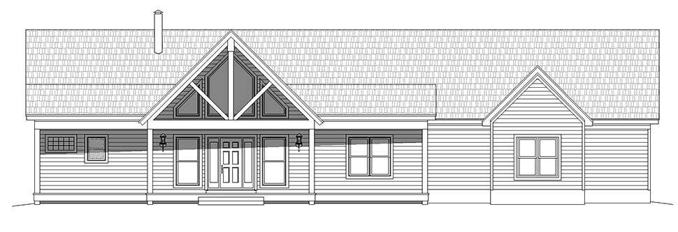 Country, Ranch House Plan 40824 with 2 Beds, 2 Baths, 3 Car Garage Picture 3