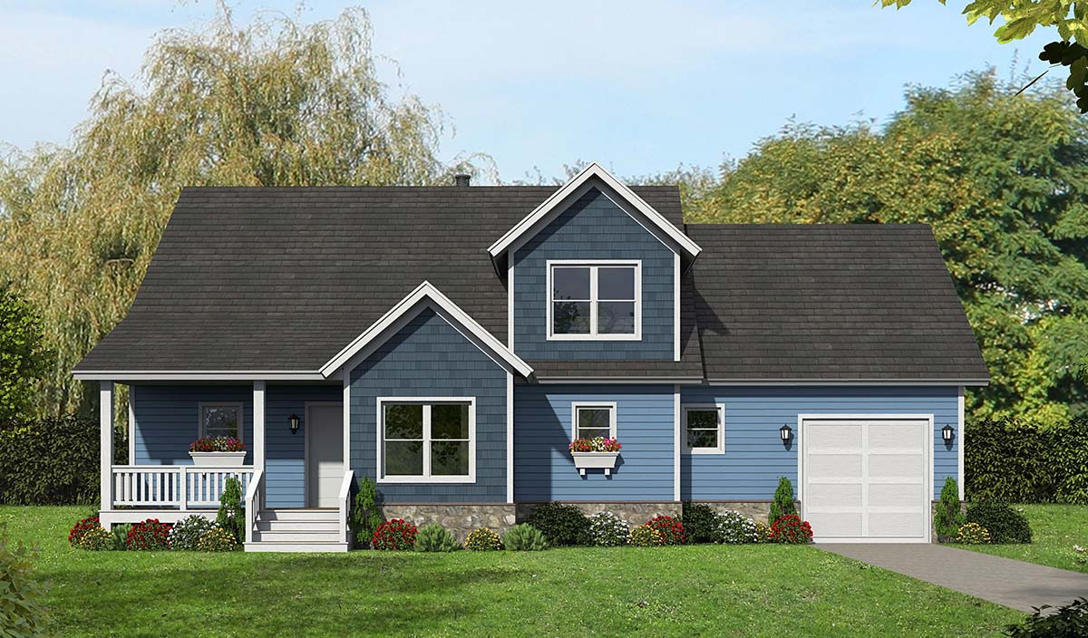 Country, Farmhouse, Traditional House Plan 40825 with 3 Beds, 3 Baths, 1 Car Garage Elevation