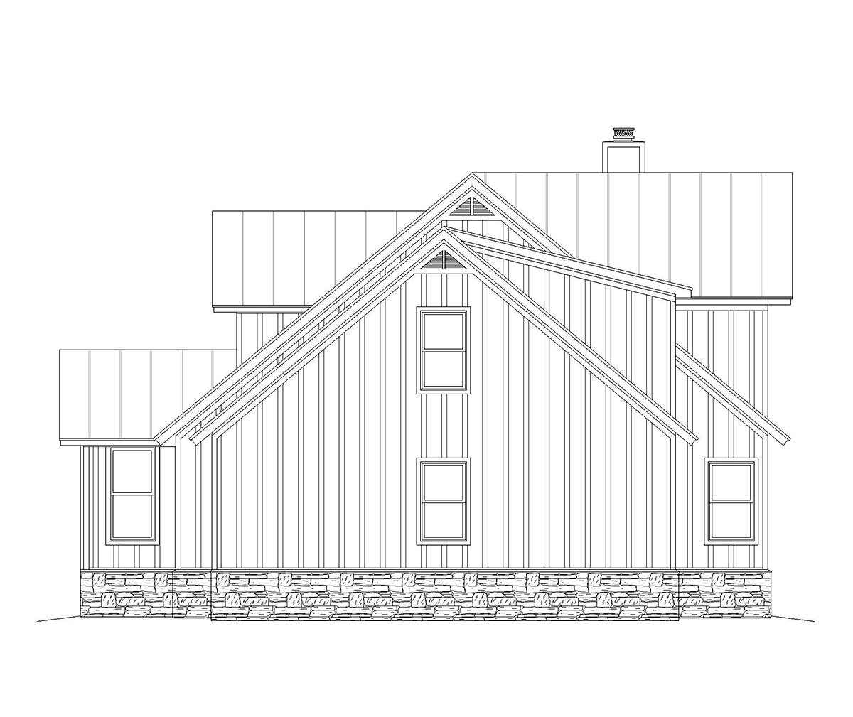 Country, Farmhouse, Traditional House Plan 40825 with 3 Beds, 3 Baths, 1 Car Garage Picture 1