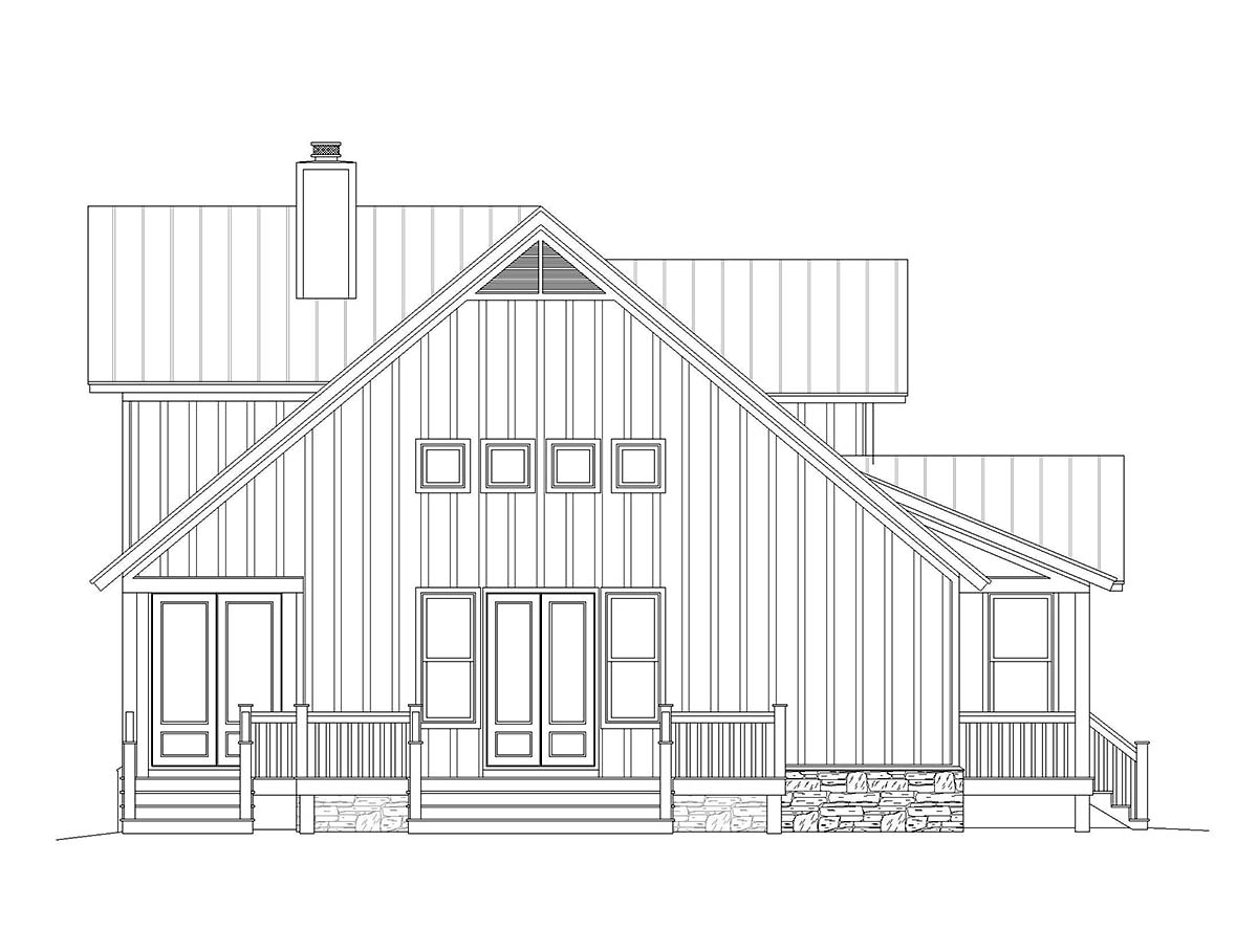 Country, Farmhouse, Traditional House Plan 40825 with 3 Beds, 3 Baths, 1 Car Garage Picture 2