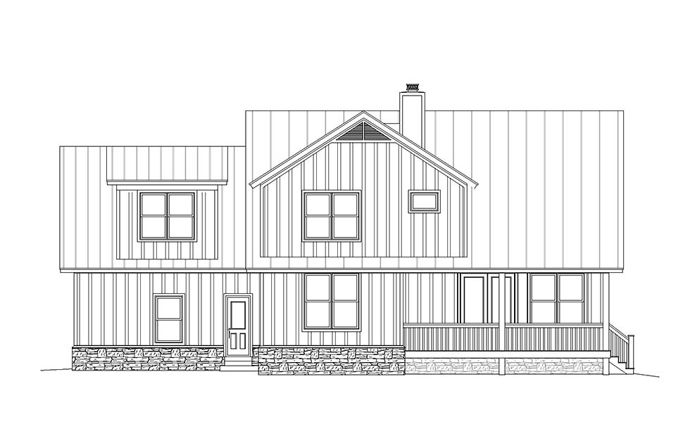Country, Farmhouse, Traditional House Plan 40825 with 3 Beds, 3 Baths, 1 Car Garage Picture 3