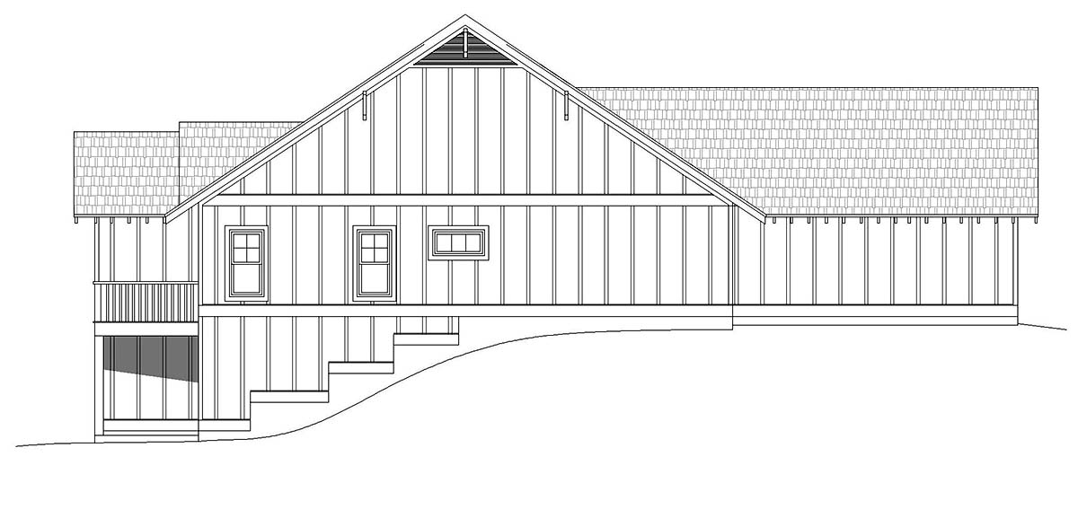 Cottage, Craftsman, Ranch House Plan 40826 with 3 Beds, 3 Baths, 2 Car Garage Picture 2