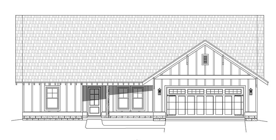 Cottage, Craftsman, Ranch House Plan 40826 with 3 Beds, 3 Baths, 2 Car Garage Picture 3