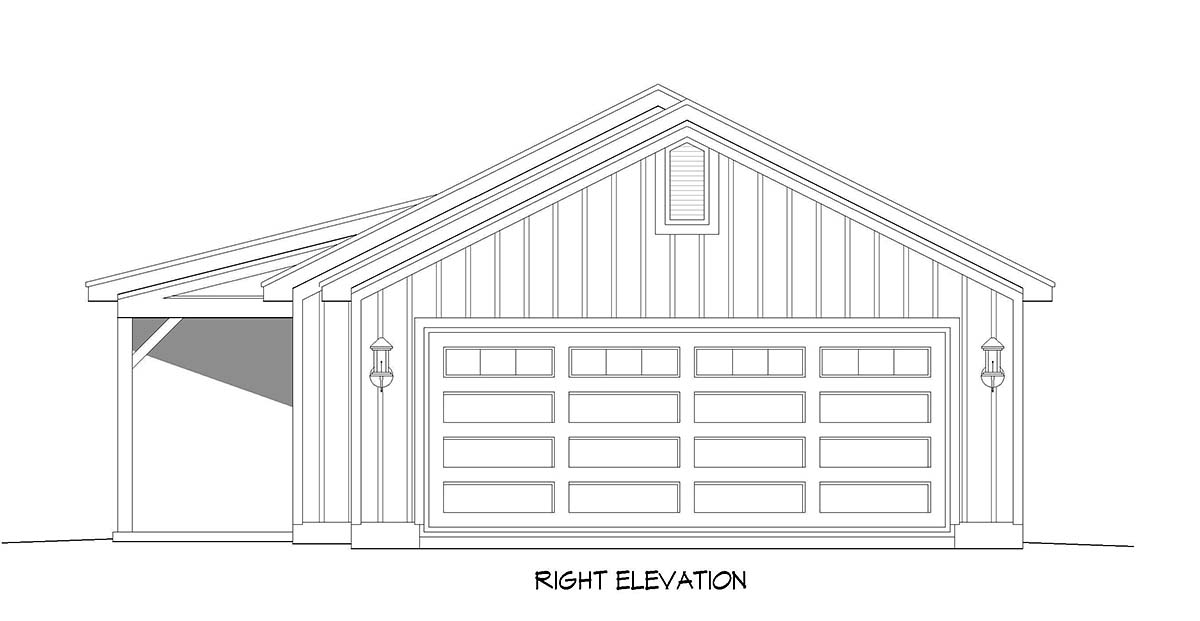 Cottage, Country, Farmhouse, Ranch House Plan 40829 with 2 Beds, 1 Baths, 2 Car Garage Picture 1