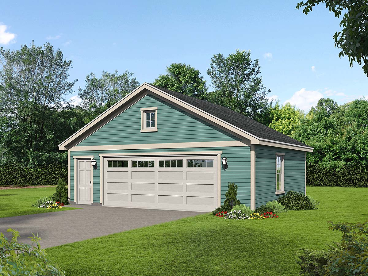 Cottage , Country , Ranch , Traditional 2 Car Garage Plan 40832 Elevation