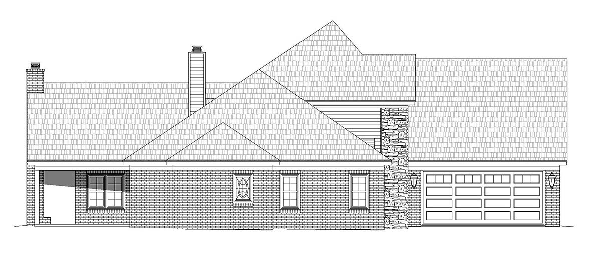 European, French Country House Plan 40840 with 5 Beds, 3 Baths, 2 Car Garage Picture 1
