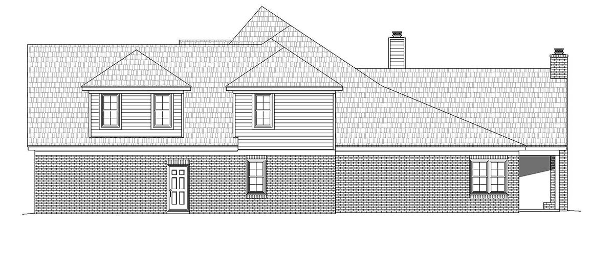 European, French Country House Plan 40840 with 5 Beds, 3 Baths, 2 Car Garage Picture 2