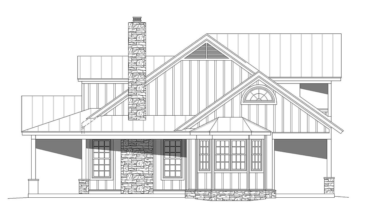 Bungalow, Cottage, Country House Plan 40847 with 3 Beds, 4 Baths Picture 1
