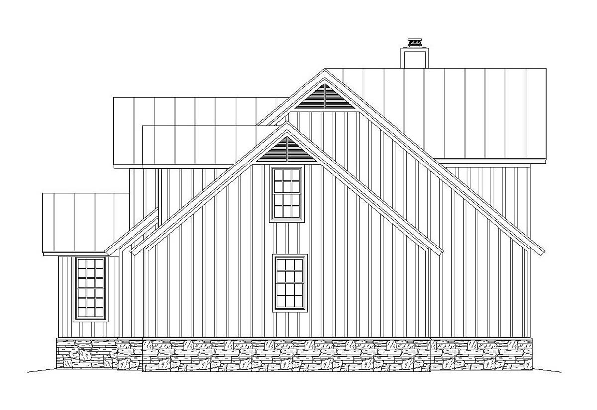 Country, Craftsman, Farmhouse House Plan 40850 with 3 Beds, 3 Baths, 3 Car Garage Picture 1