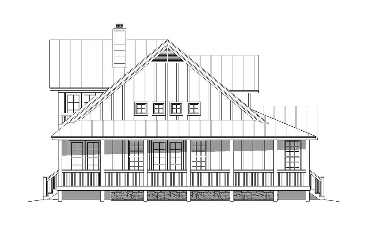 Country, Craftsman, Farmhouse House Plan 40850 with 3 Beds, 3 Baths, 3 Car Garage Picture 2