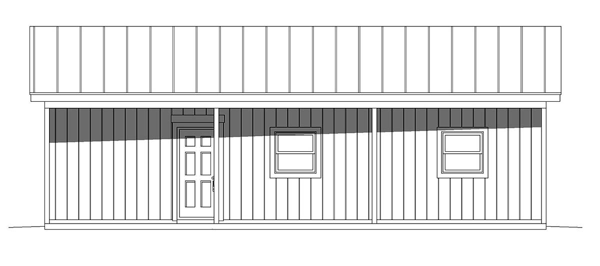 Country, Ranch 2 Car Garage Plan 40851 Picture 1