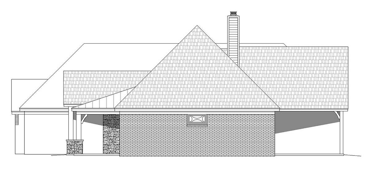 European, French Country, Ranch House Plan 40853 with 4 Beds, 4 Baths, 3 Car Garage Picture 1