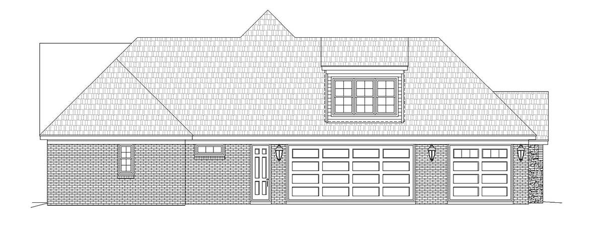 European, French Country, Ranch House Plan 40853 with 4 Beds, 4 Baths, 3 Car Garage Picture 2