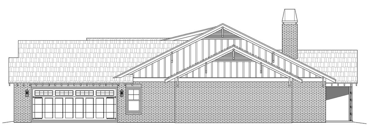 Craftsman, Ranch, Traditional House Plan 40854 with 3 Beds, 3 Baths, 3 Car Garage Picture 1