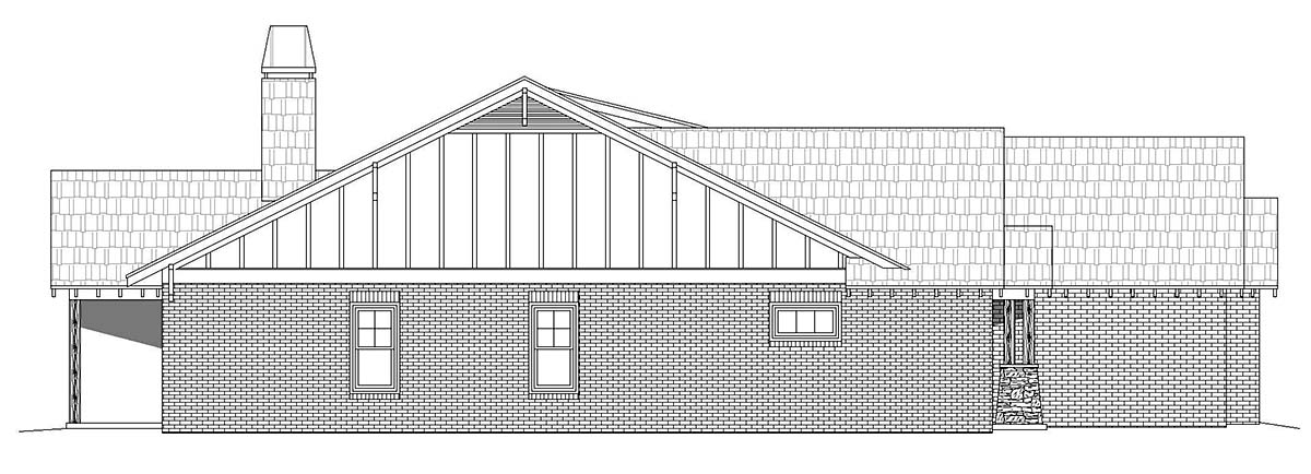 Craftsman, Ranch, Traditional House Plan 40854 with 3 Beds, 3 Baths, 3 Car Garage Picture 2