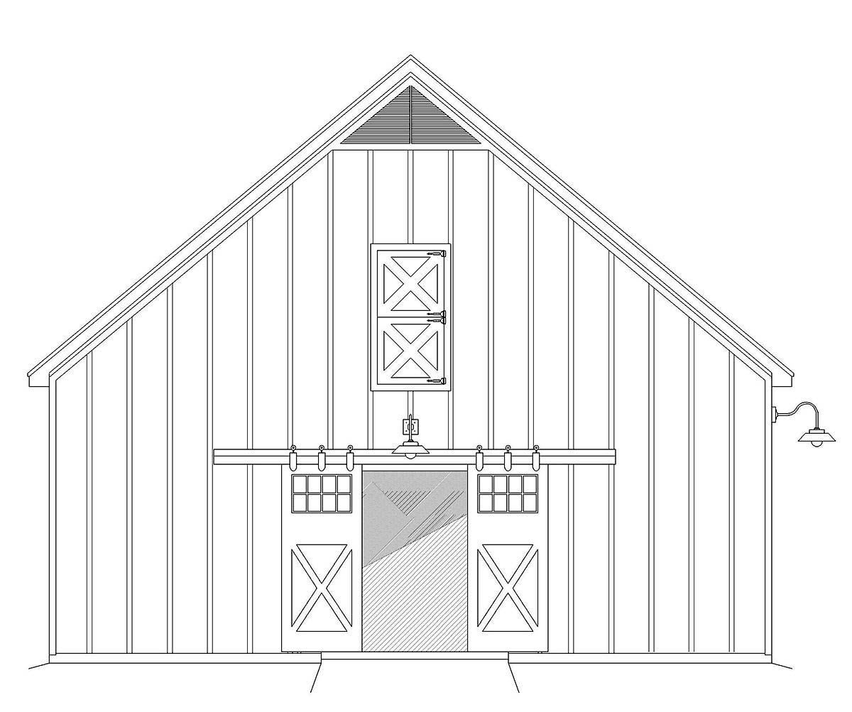Country, Farmhouse 2 Car Garage Plan 40855 Picture 2