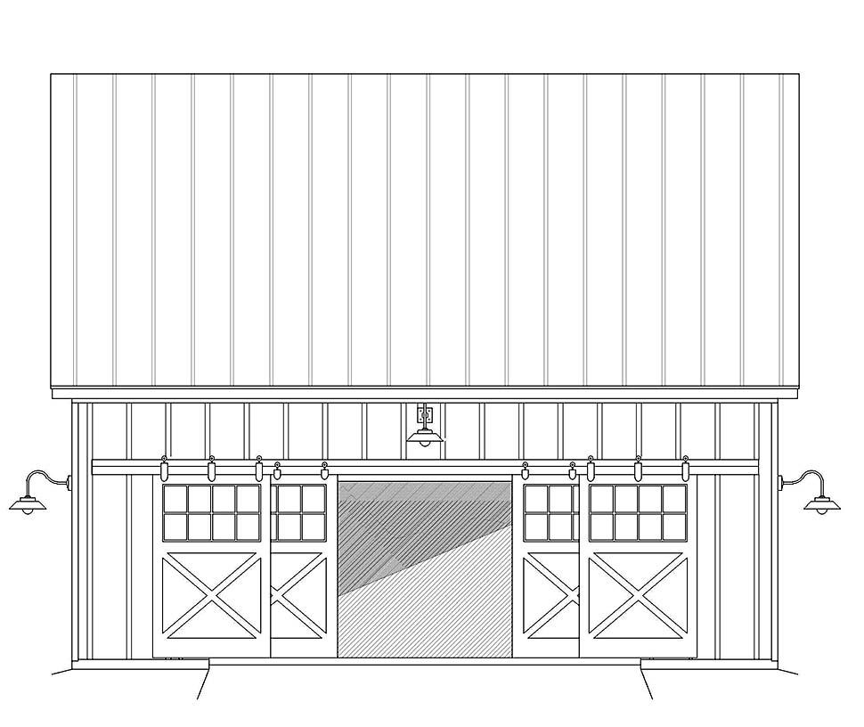 Country, Farmhouse 2 Car Garage Plan 40855 Picture 3
