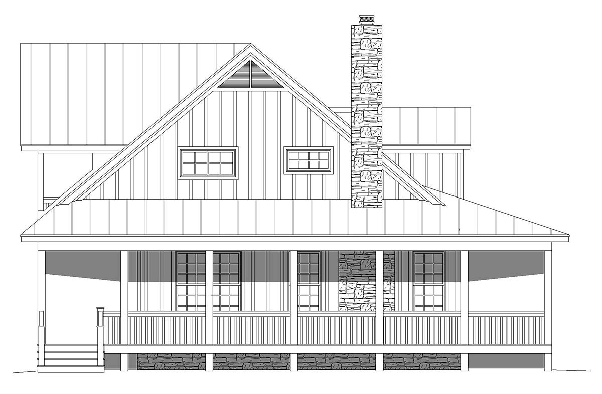 Country, Farmhouse, Traditional House Plan 40857 with 3 Beds, 4 Baths Picture 2