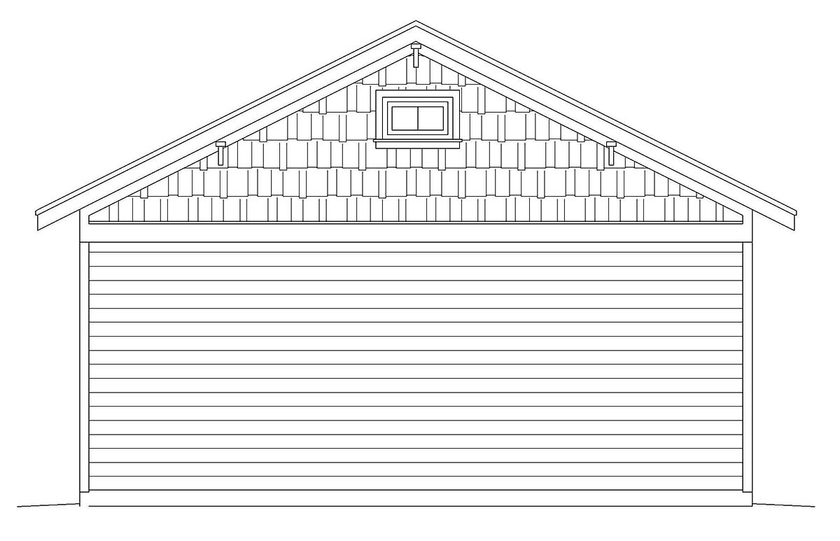 Country, Ranch, Traditional 3 Car Garage Plan 40858 Picture 1