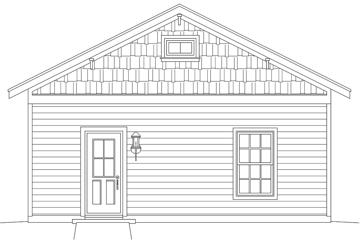 Country, Ranch, Traditional 3 Car Garage Plan 40858 Picture 2