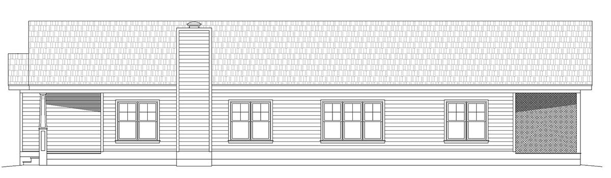 Country, Farmhouse, Ranch, Traditional House Plan 40859 with 3 Beds, 2 Baths Picture 1