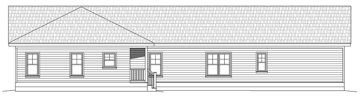 Country, Farmhouse, Ranch, Traditional House Plan 40859 with 3 Beds, 2 Baths Picture 2