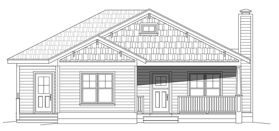 Country, Farmhouse, Ranch, Traditional House Plan 40859 with 3 Beds, 2 Baths Picture 3