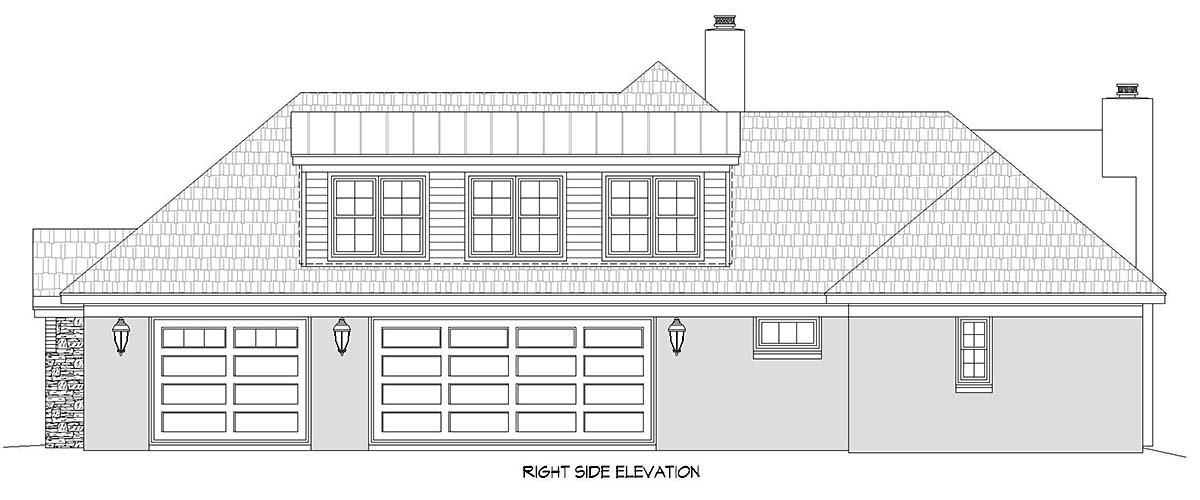 European, French Country, Ranch House Plan 40860 with 3 Beds, 4 Baths, 3 Car Garage Picture 1