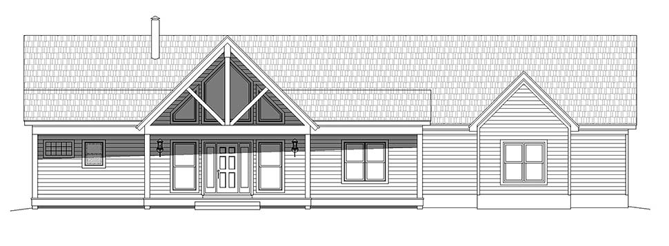 Country, Farmhouse, Ranch House Plan 40864 with 2 Beds, 2 Baths Picture 3