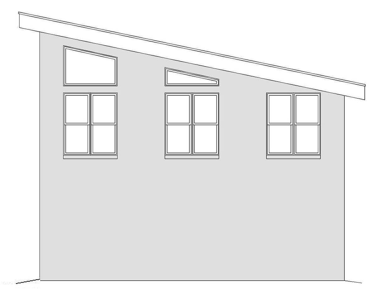 Contemporary, Modern 2 Car Garage Apartment Plan 40865 Picture 1