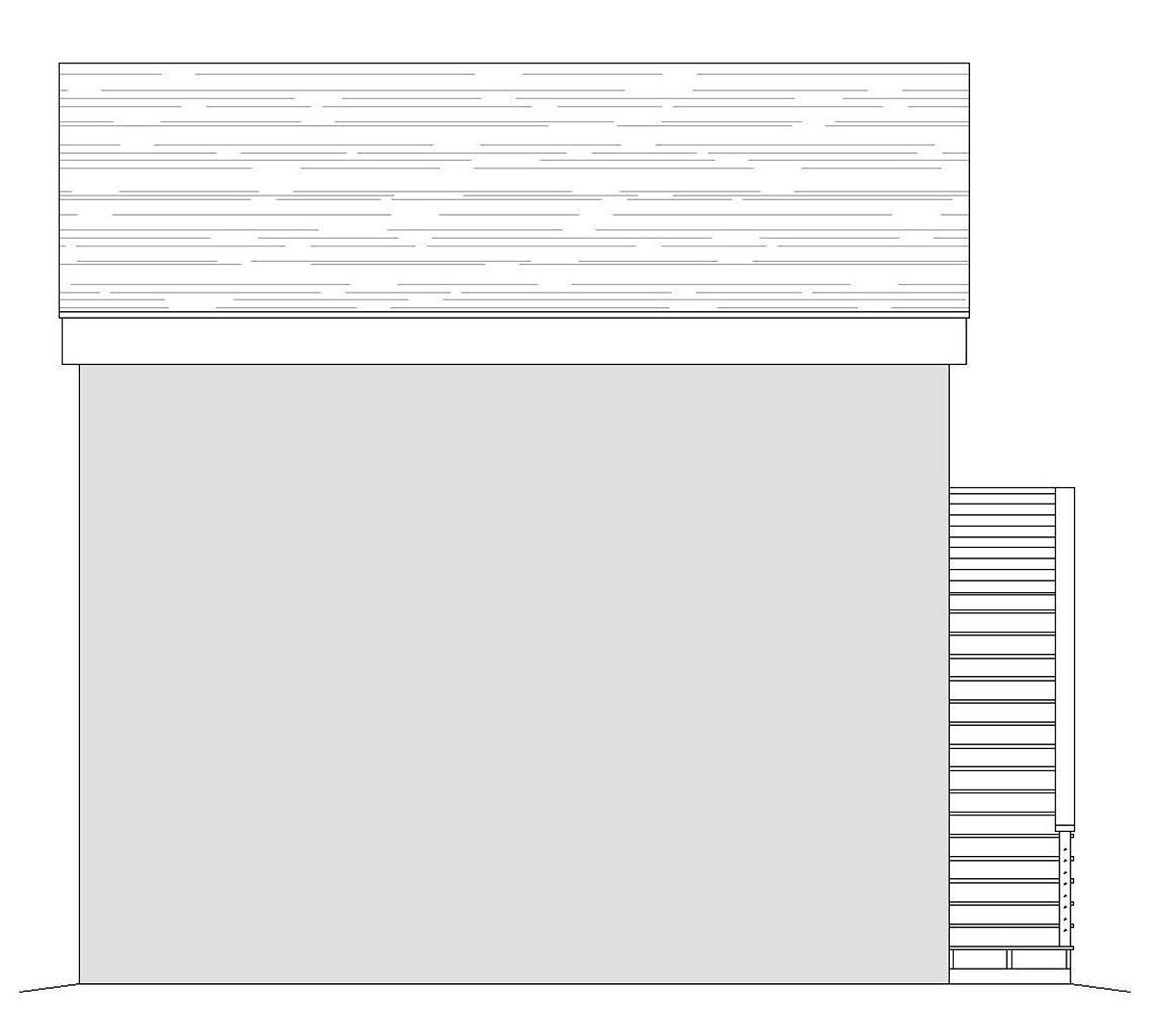 Contemporary, Modern 2 Car Garage Apartment Plan 40865 Rear Elevation