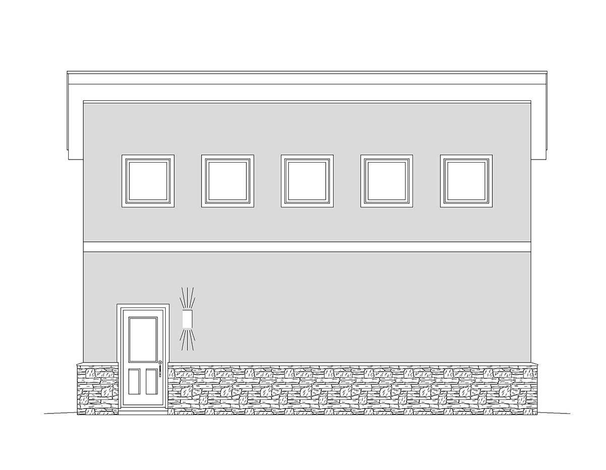 Contemporary, Modern 2 Car Garage Plan 40870, RV Storage Picture 2