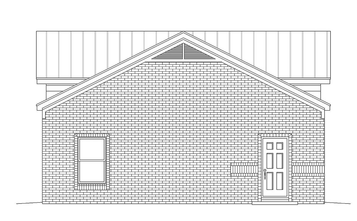 Traditional 2 Car Garage Plan 40875 Picture 2