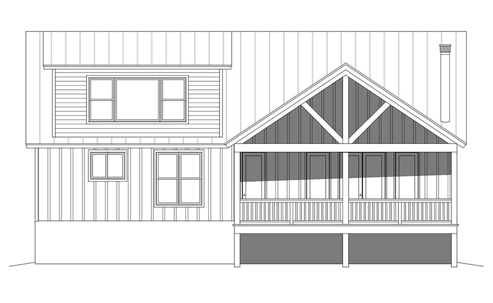 Cabin, Country, Log House Plan 40877 with 3 Beds, 3 Baths Picture 4