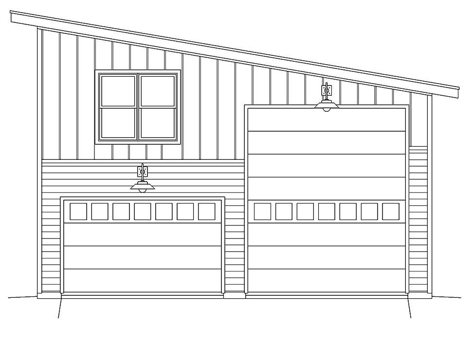 Contemporary, Modern 2 Car Garage Plan 40878, RV Storage Picture 3