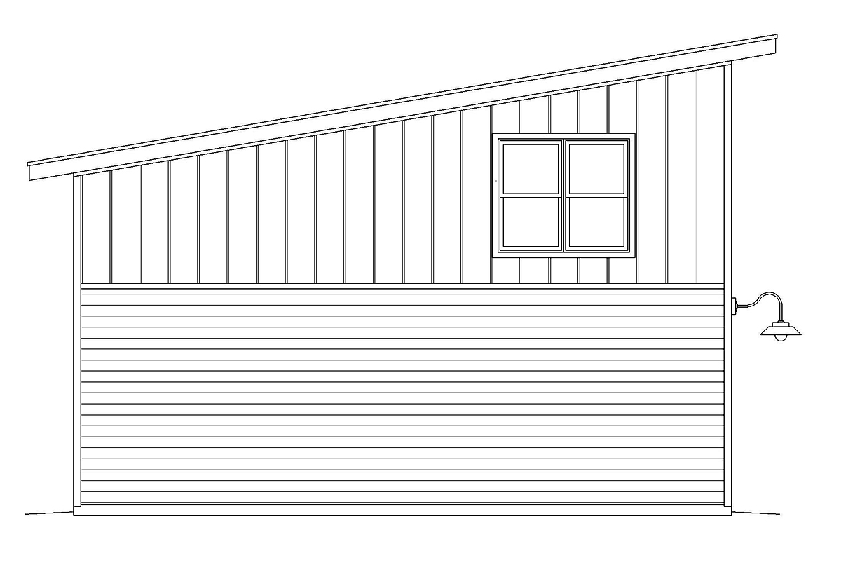 Contemporary, Modern 2 Car Garage Plan 40878, RV Storage Rear Elevation