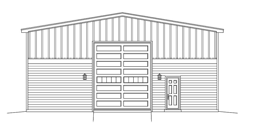 Country, Farmhouse, Traditional 1 Car Garage Plan 40882, RV Storage Picture 3