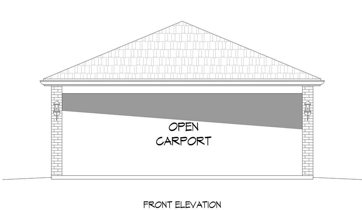 2 Car Garage Plan 40883 Picture 1