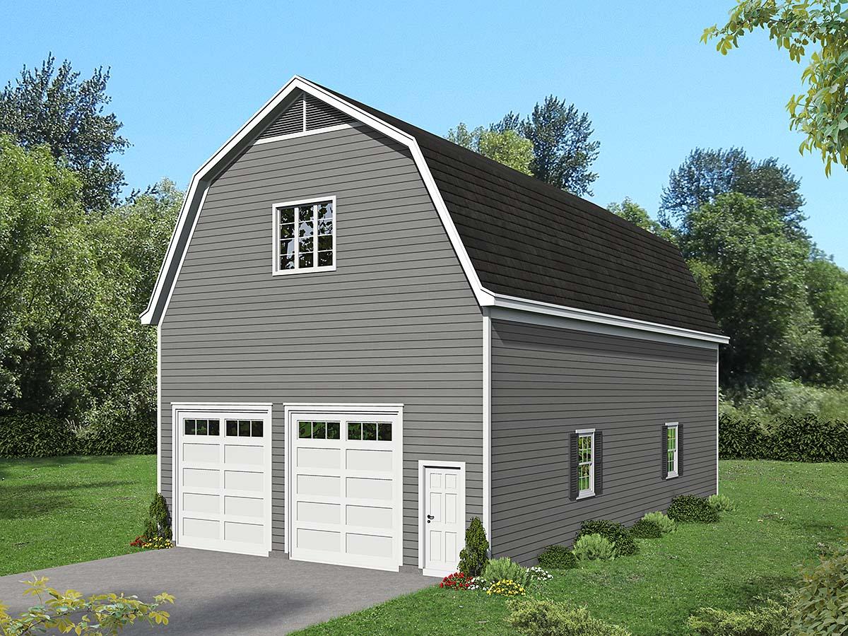 Cottage, Country 4 Car Garage Plan 40884 Elevation