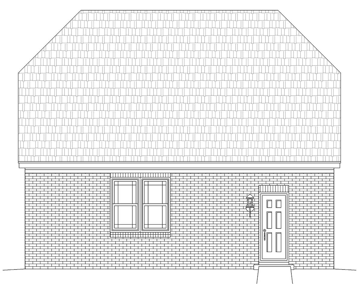 Country, French Country, Traditional 2 Car Garage Plan 40886 Picture 2