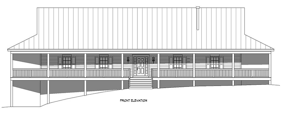 Country, Farmhouse, Ranch, Traditional House Plan 40892 with 4 Beds, 3 Baths, 3 Car Garage Picture 3