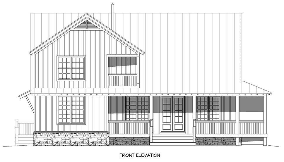 Cottage, Country, Farmhouse House Plan 40893 with 3 Beds, 3 Baths Picture 3