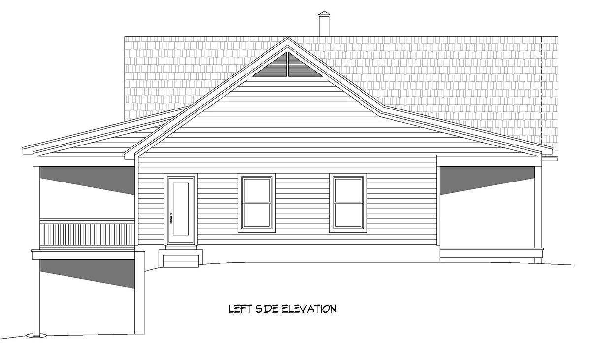 Country, Farmhouse, Ranch, Traditional House Plan 40894 with 4 Beds, 3 Baths, 1 Car Garage Picture 2