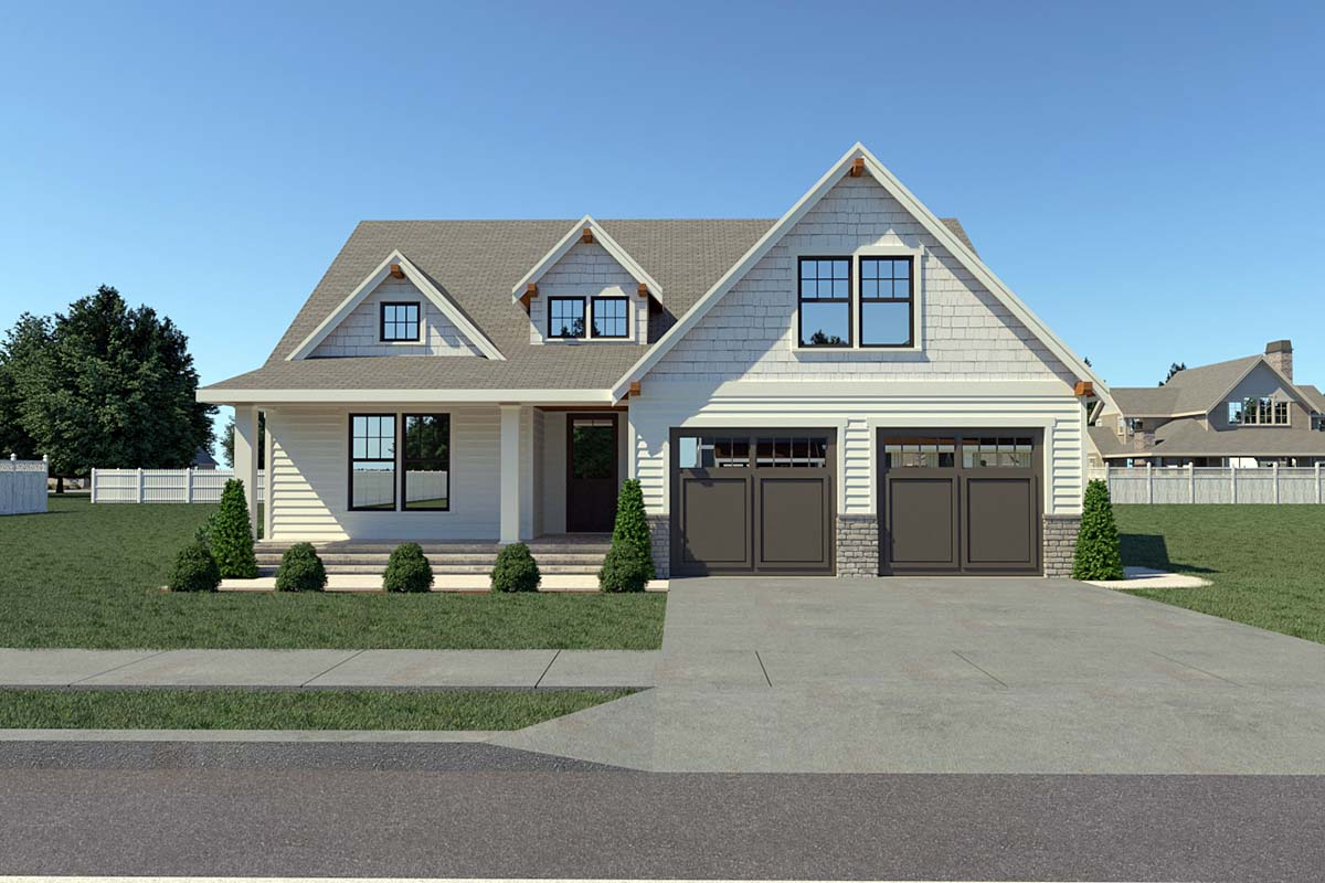 Contemporary Farmhouse Elevation of Plan 40904